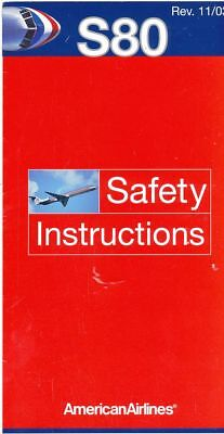 Cpa Pk Ak Aviation Compagnie American Airlines  Safety On Board Avion S-80