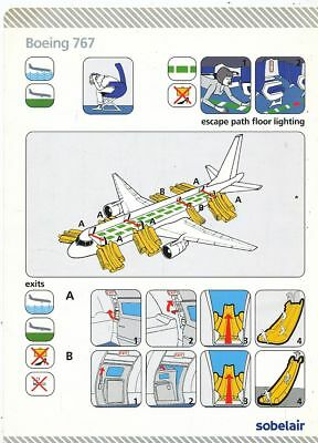 Cpa Pk Ak Aviation Compagnie Sobelair Safety On Board Avion Boeing 767