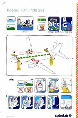 Cpa Pk Ak Aviation Compagnie Sobelair Safety On Board Avion Boeing 737-400 Sbj