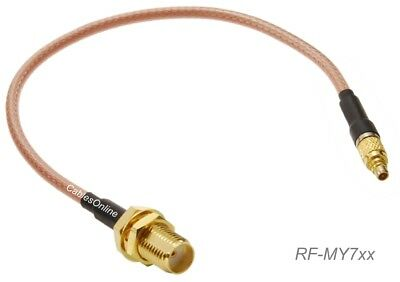 SMA Bulkhead Female to MMCX Male 50Ω RG316 Coax Low Loss Jumper RF Cable