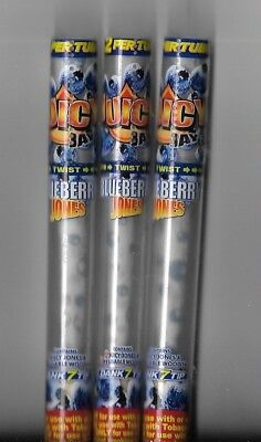 3 Juicy Jay's Jones Blueberry Pre-Rolled Cone Rolling Papers Reusable Wooden Tip