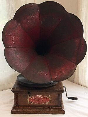 Antique STANDARD DISC Columbia PHONOGRAPH Record Player All Original Working