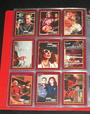 113 Different 1991 Star Trek The Next Generation Impel Trading Cards + Dupes