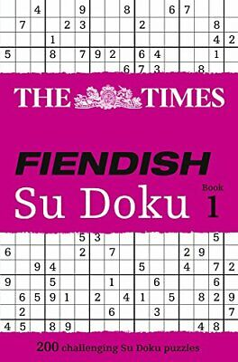 The Times Fiendish Su Doku Book 1: 200 challenging ... by Gould, Wayne Paperback
