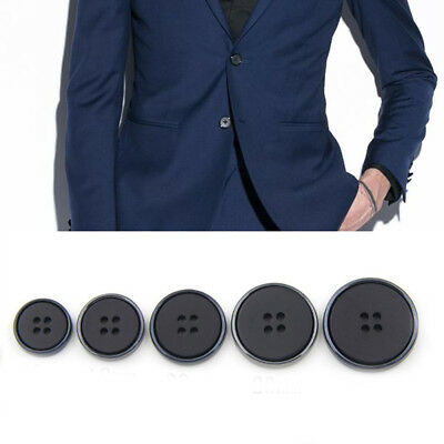 10PCS 4-Hole Flat Buttons Suit Coat Jacket Sewing Craft DIY Accessory 15-25mm