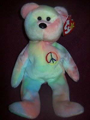 Ty Beanie Babies - PEACE BEAR - 1996 - Excellent Pre-Owned Condition w  7f7bb527067a