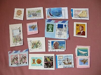 16 verschiedene Briefmarken International
