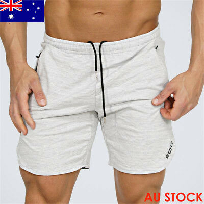 Men's Gym Boxing Fitness Training Fashion Short Pants With Zipper Pocket Shorts