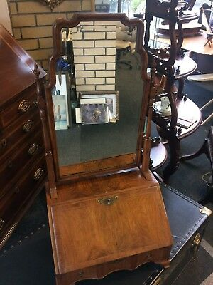 Antique Ladies Dressing Mirror Mahogany With Drawer and Compartments
