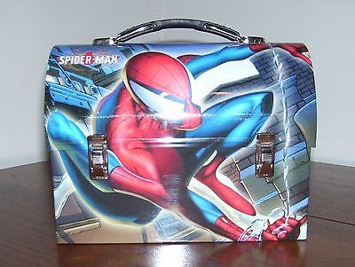 NEW Spiderman Metal Domed Lunchbox Lunch box Marvel Comics m Red Xy