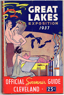 Great Lakes Exposition 1937 Official Souvenir Guide, Cleveland, Ohio
