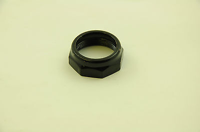 """BICYCLE 1"""" (25.4mm) HEADSET LOCKNUT TOP NUT FOR BIKE CYCLE FORK BLACK"""