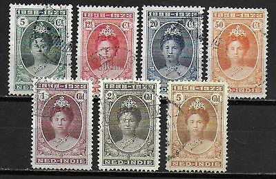 Netherlands Indies stamps 1923 NVPH 160-166 CANC VF