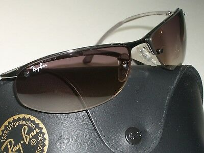 d45ddab898 RAY BAN RB 3179 Top Bar SUNGLASSES 63-15-125 Silver Half Rim ...