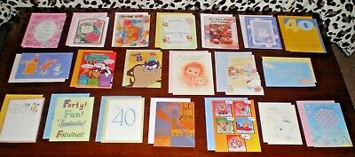 LOT OF 20 NICE QUALITY CARDS NOS BIRTHDAY GREETING CARDS NEW with Envelopes  #6