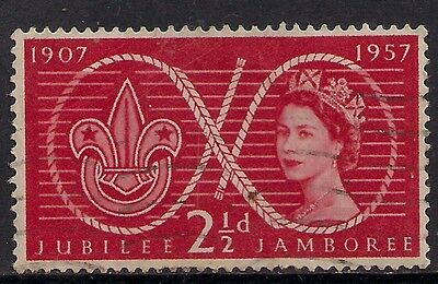 GB 1957 QE2 2 1/2d Red Scout Jubilee Comms SG 557. ( G37 )