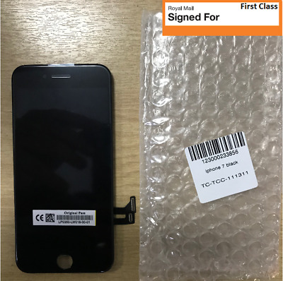 Genuine OEM Quality Black Iphone 7 LCD Screen A+++ No Dead Pixels UK Seller