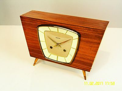 Beautiful Later  Art Deco Hermle Chiming Mantel Clock  From 50´s
