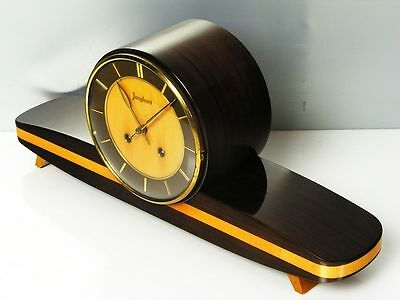 Beautiful Later Art Deco Junghans  Chiming Mantel Clock  From 50´s With Resonanz