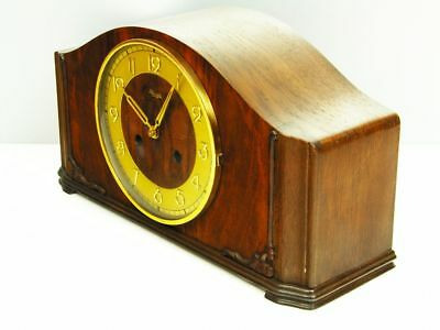 Pure Art Deco  Kienzle  Chiming Mantel Clock With Pendulum Germany