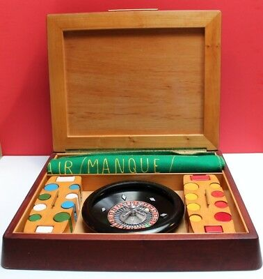 Vintage 1960s French Italian Portable Roulette Table