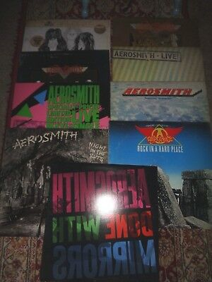 Aerosmith Record LP Collection Lot Rare Maxi Single Christmas Gift
