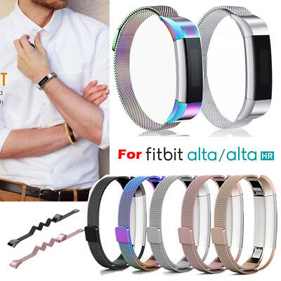 Stainless Steel Replacement Metal Wrist Band Strap For Fitbit Alta / Alta HR AU