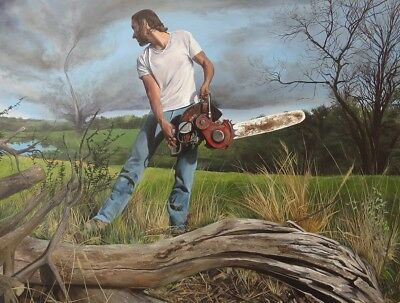 Quadro Dipinto Ad Olio - Kevin Muente - Taking On Twisters - 91,44X121,92
