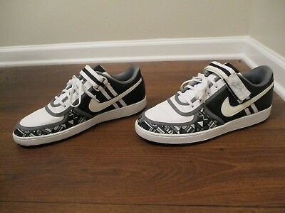 c92787b5c45 Classic 2007 Used Worn Size 13 Nike Vandal Low Shoes Black White Grey  Anthracite