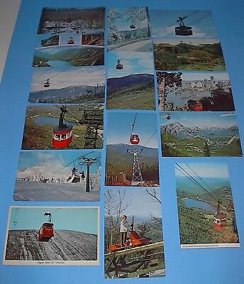 Vintage Postcard Lot 24 Ski-Lifts Gondolas Tramways Postcards Posted & Un-Posted