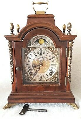 Mantel Clock Dutch Warmink Wubba Vintage Shelf Bracket Moon Dial Night Switch