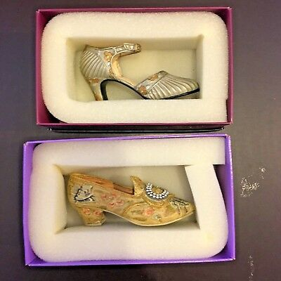 """NEW - 2 Just The Right Shoe Figurines - """"Sunray"""" & """"Afternoon Tea"""""""
