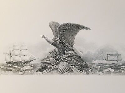 BEP Intaglio Print - Eagle, Shield & Ships - 1987 Convention Philadelphia stp49