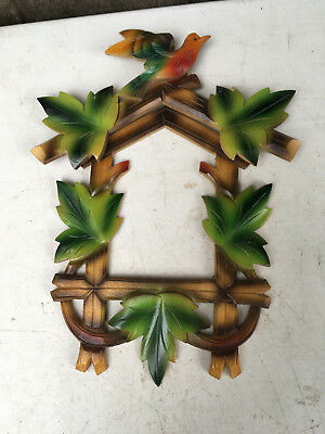 Vintage Colored Cuckoo Clock Front Plate and Crest for Parts / Repair  CC17