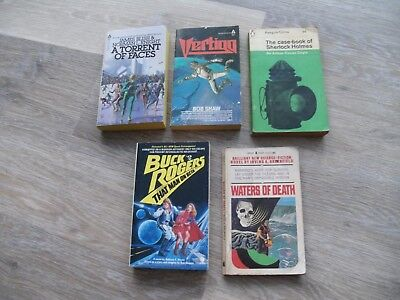 Job Lot Of 5 Science Fiction Paperbacks - Vertigo,waters Of Death,sherlock Etc.