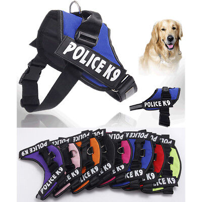 Dog Puppy Power Harness Strong Adjustable Tactical Police Working Harnesses Vest