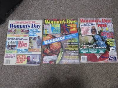 3 Womans Day Magazine lot#10  1980s