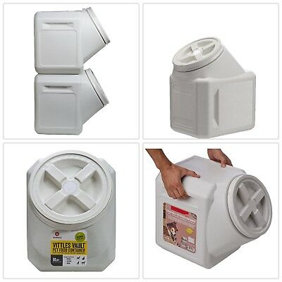 Air Tight Dog Food Container 60Lbs Storage Cat Small Plastic Vault Pet Stackable