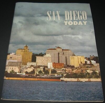1953 SAN DIEGO TODAY BOOKLET SD Calif Chamber of Commerce AIRCRAFT,FISHING,PORT