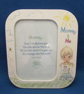 """Precious Moments """"Mommy & Me"""" Porcelain Photo Frame Fits 4 x 6 in. Photo - 2000"""