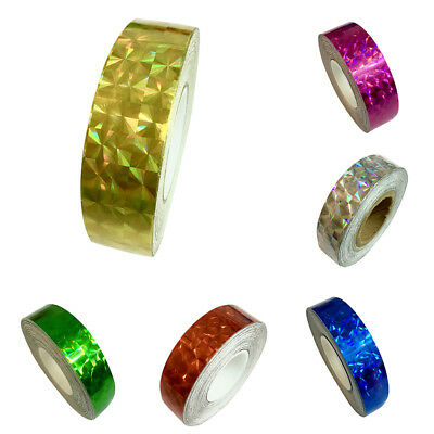 1.2cm x18m Glitter Sparkle Holographic Prism Lure Tape for Gift Packing Goodish