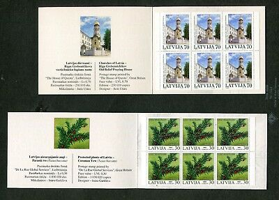 Nice Lot Of Stamp Booklets From Latvia, With Better ($100+) 8 Scans