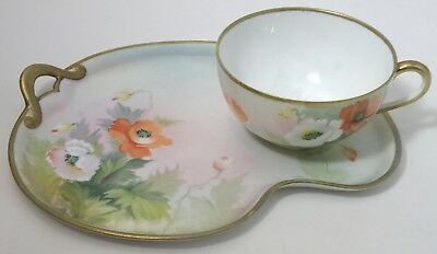 "HAND PAINTED Eggshell porcelain Breakfast Set made for ""The Civil Service Coop."""