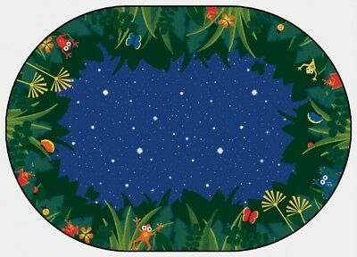Carpets For Kids 6505 Peaceful Tropical Night 6 ft. x 9 ft. Oval Carpet