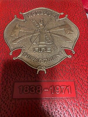 Houston Fire Dept 1838 1971 History And Yearbook