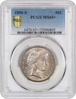 1896-S 50c PCGS MS65+ Beautiful Gem! - Barber Half Dollar - Beautiful Gem!