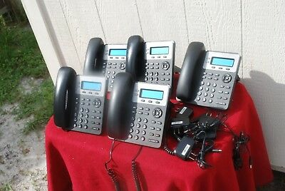 Lot Of 5 Grandstream Gxp1610 Small Business Ip Phones.