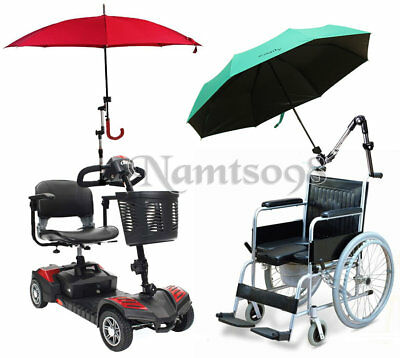 Umbrella Handlebar Attachment Clamp supporter Connector Holder/Wheelchair Walker