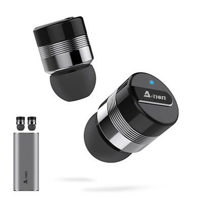 TRULY WIRELESS Bluetooth 4.1 Headphones Earbuds Noise Reduction With Charger