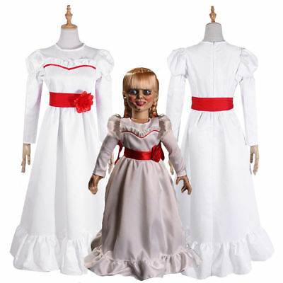 Halloween Costume The Conjuring Annabelle Creation Long Fancy Dress Adult / Kids
